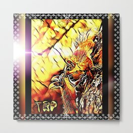 Squirrel Amour Metal Print