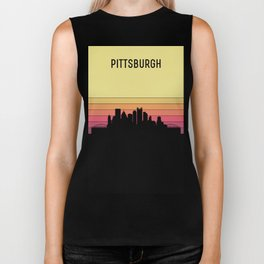 Pittsburgh Skyline Biker Tank