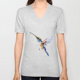 Flying Hummingbird Unisex V-Neck