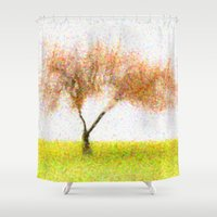 tree of life Shower Curtains featuring Life Tree by Joao Bizarro