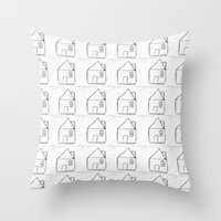 architect Throw Pillows featuring Architect by Luana Rios