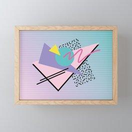 Memphis pattern 44 - 80s / 90s Retro Framed Mini Art Print