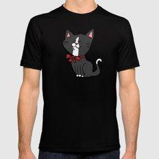 Happy Kitten Mens Fitted Tee Black MEDIUM