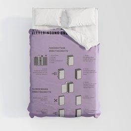 Buchbinden – Arbeitsschritte Klebebindung und Fadenheftung Duvet Cover