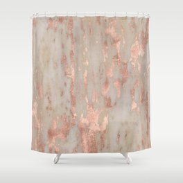 Rose gold Genoa marble Shower Curtain