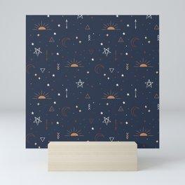 Sun and Moon Pattern, Zodiac Pattern, Printable Art, Line Art Printable Mini Art Print