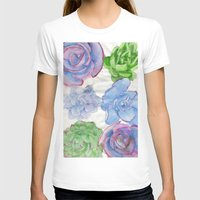 succulents T-shirts featuring Succulents by Kate Havekost Fine Art