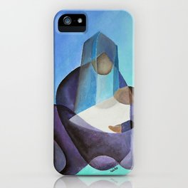 Mary and The Baby Messiah iPhone Case