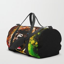 french bulldog basketball splatter watercolor Duffle Bag
