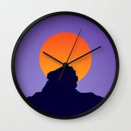 Sri Lanka Sigriya : Sun Mountain Silhouette Wall Clock