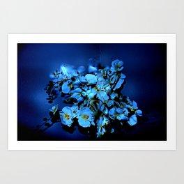 JAZZY BLUES Art Print
