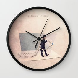 The Jewelry deliverer Wall Clock