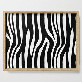 Zebra Print Serving Tray