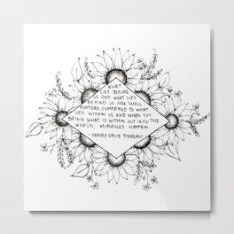 Thoreau Sunflower Metal Print