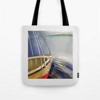 skyline Tote Bags featuring Skyline by Vilnis Klints