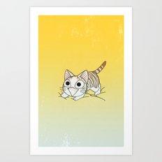 Vicky cat Art Print