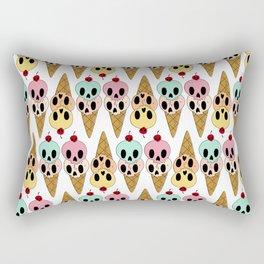 Skull Ice Cream Rectangular Pillow
