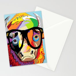 """Hipster Bison """"Buffalo"""" Stationery Cards"""