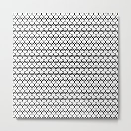 Repeating Heart Pattern II Metal Print