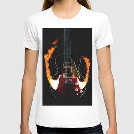 Burning Rock Guitar T-shirt