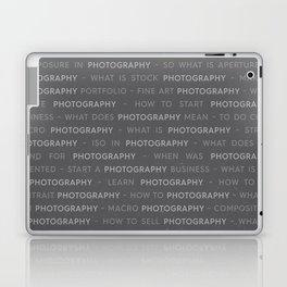 Gray Photography Keywords Laptop & iPad Skin