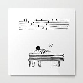 Musical Birds Metal Print