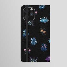 Fantasy flowers iPhone Wallet Case