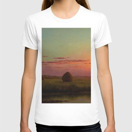 Pink Sunset over Scituate, Rhode Island Marches Landscape by Martin Johnson Heade T-shirt
