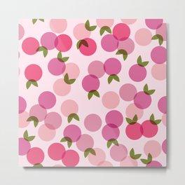 Fruit Pattern - Pink Metal Print