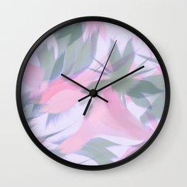 Flowering Vines in Soft Pink Wall Clock