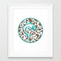 maori Framed Art Prints featuring Maori Dolphin by freebornline