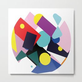 Shapes in one Metal Print