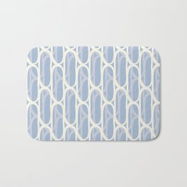Yellow and blue waves Bath Mat