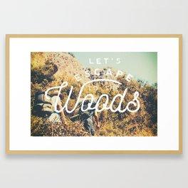Let's Escape Framed Art Print