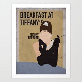 Breakfast At Tiffany's staring Audrey Hepburn Art Print