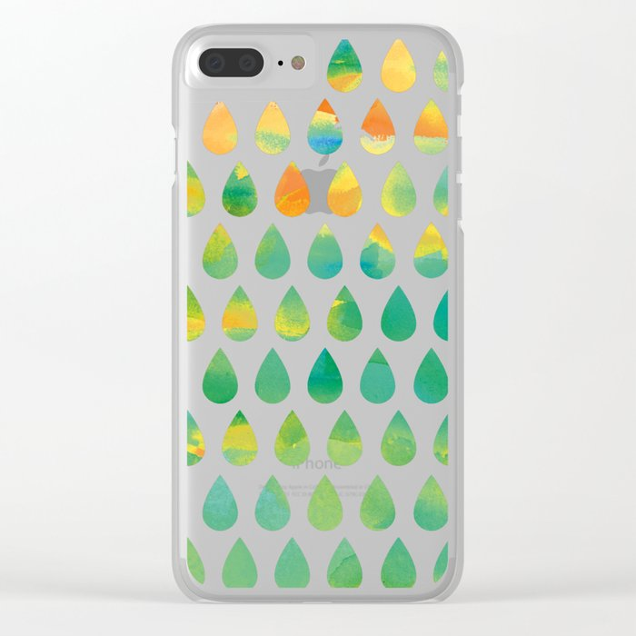 Monsoon Rain Clear iPhone Case