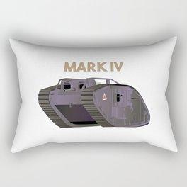 British WW1 Tank Mark IV Rectangular Pillow