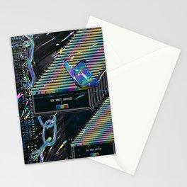 Error Tab Vaporwave Stationery Cards