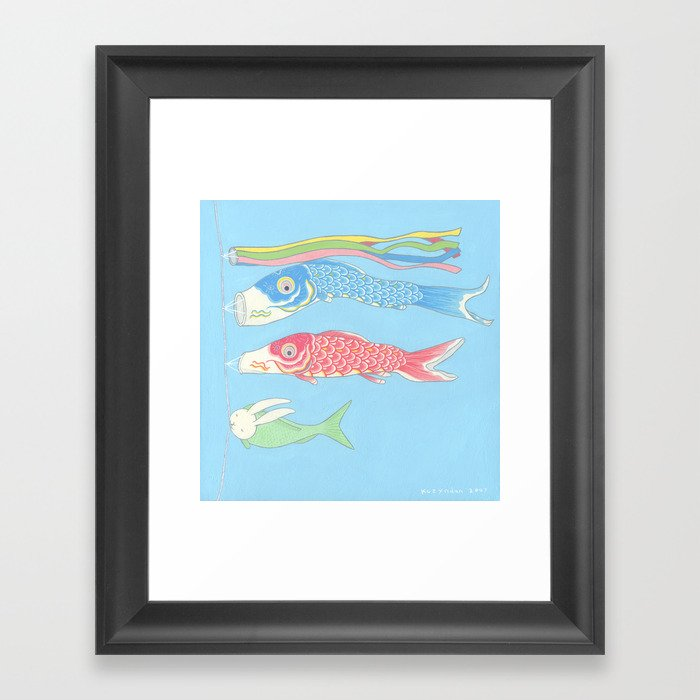 Usagikoinobori Framed Art Print