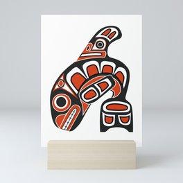 Orca Whale Haida Style Art - Native American Totem Tribal Mini Art Print