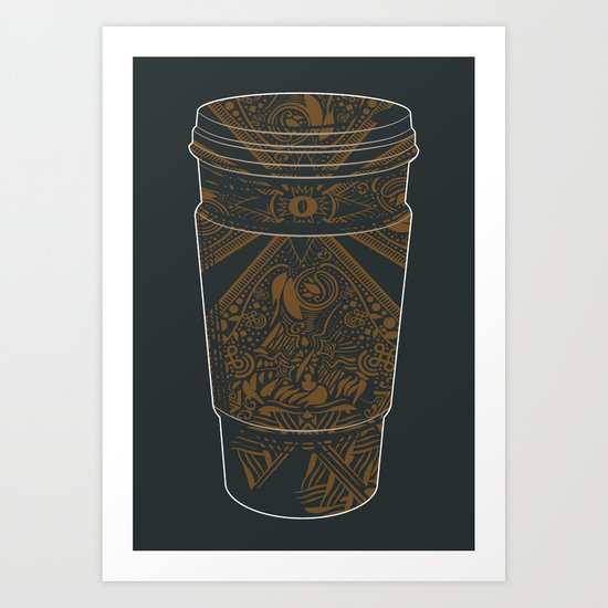 Inspired by Coffee Art Print