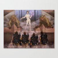 ghostbusters Canvas Prints featuring Ghostbusters by Kim Herbst