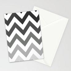 BLACK/GRAY OMBRÉ CHEVRON Stationery Cards