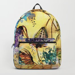 Morning Flowers Ghostly Mist-Barbara Chichester Backpack