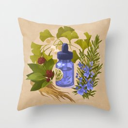 Energy & Concentration Throw Pillow