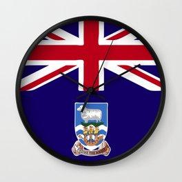 Falkland Islands flag emblem Wall Clock