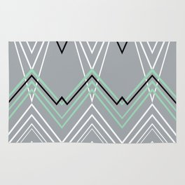 Mint Grey Chevy Rug