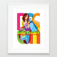discount Framed Art Prints featuring Creative Title : DISCOUNT by Don Kuing