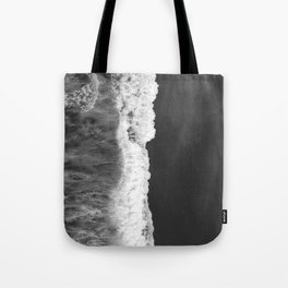 The Sea (Black and White) Tote Bag
