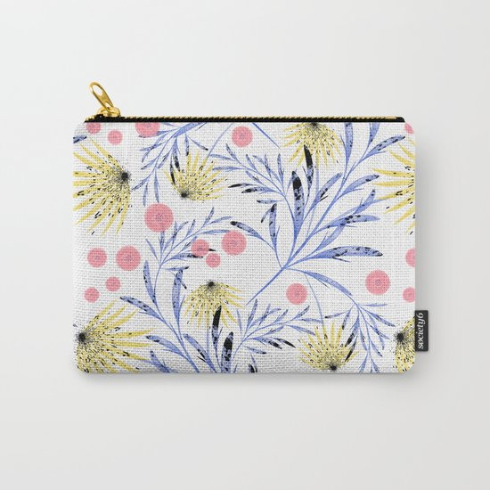 Abstract floral pattern. Carry-All Pouch